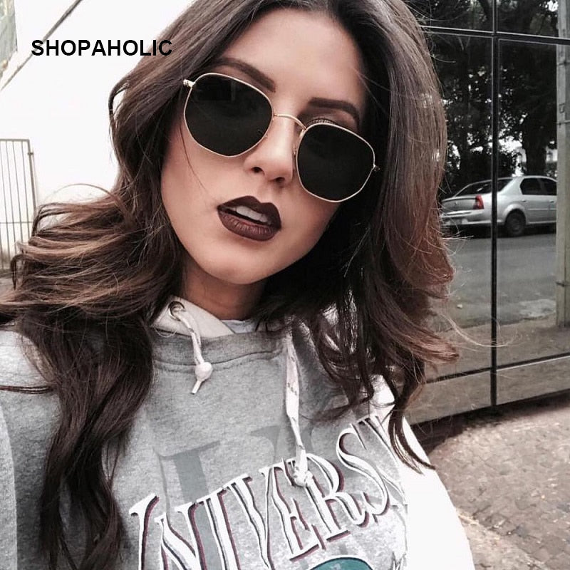 Retro Round Sunglasses Women Brand Designer Sun Glasses for Women Alloy Mirror Sunglasses Ray Female Oculos De Sol