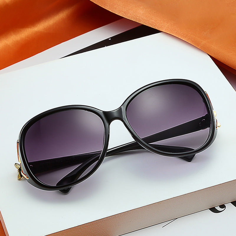 Coolsir 2020 New Fashion Fox Women Sunglasses Sun Glasses Elegant Big Frame Wild Driving Glasses