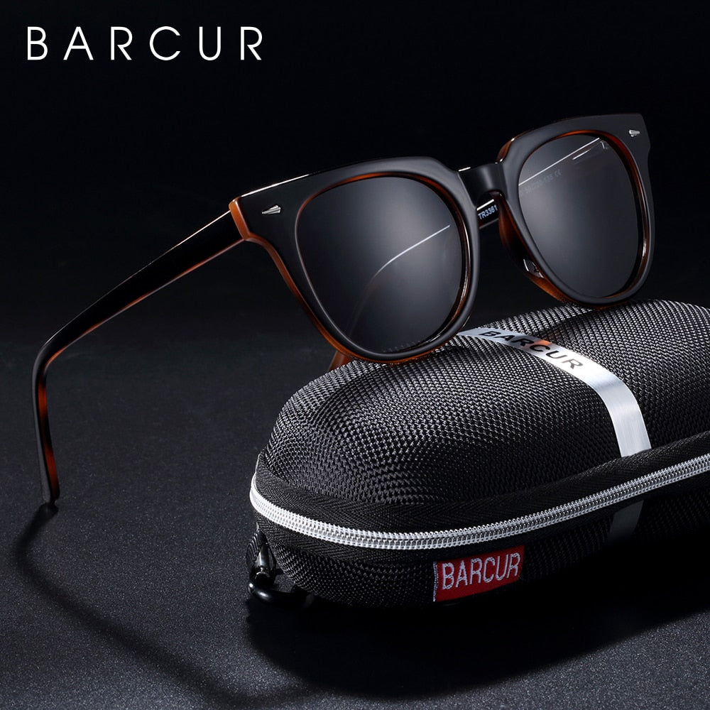 BARCUR Original TR90 Sunglasses for women Polarized Women Square Sun glasses Transparent Oculos lunette de soleil femme