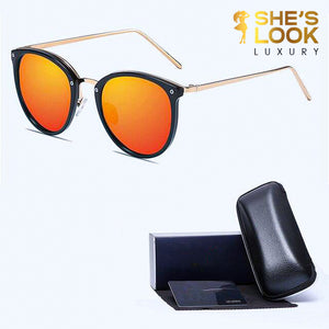 SHES LOOK LUXURY 2020 Polarized Sunglasses Women brand design Round Sun Glasses Driving Sunglases oculos de sol feminino lunette solei