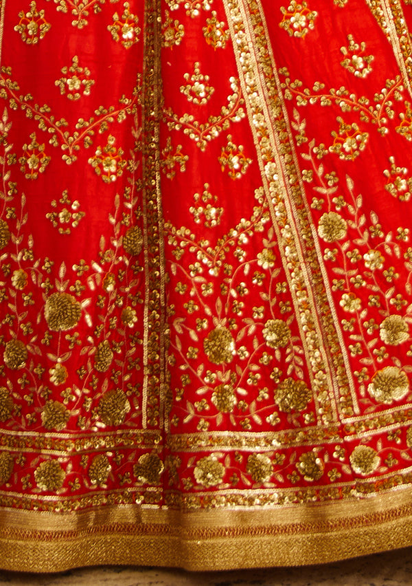 Red Lehenga Set.