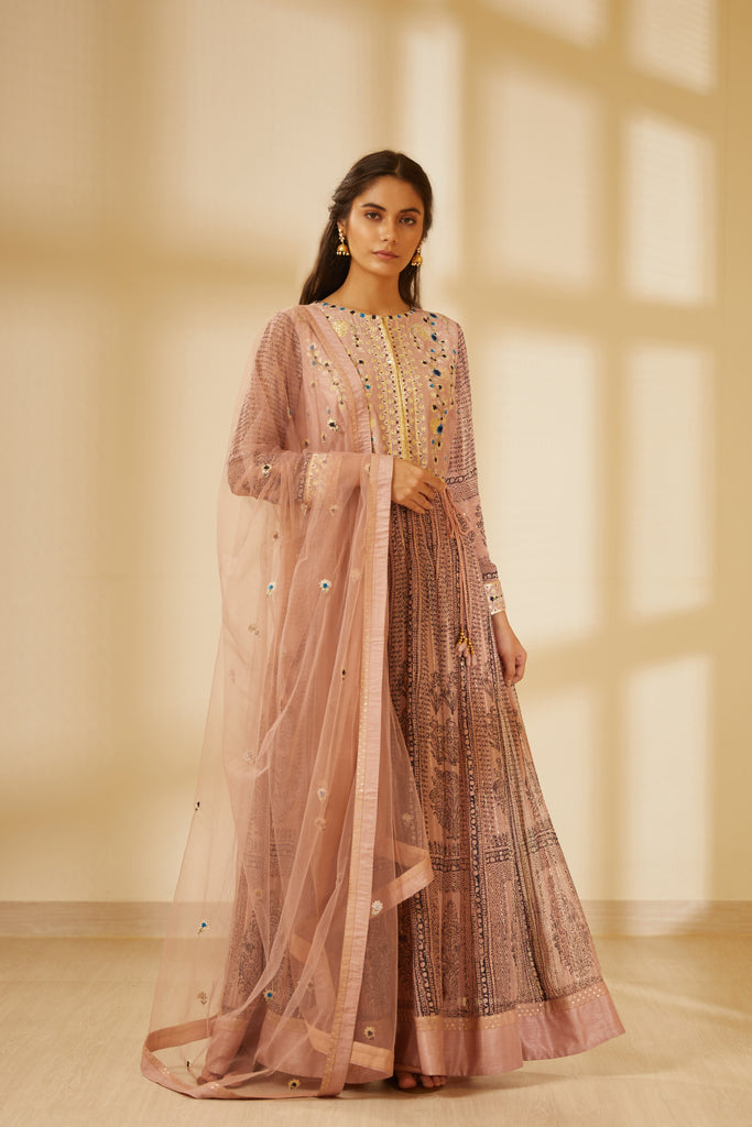 Rose Pink Anarkali Set