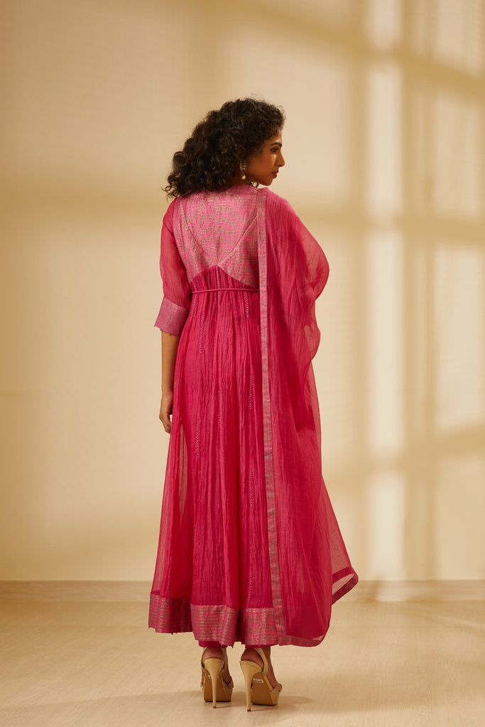 Dark Pink Anarkali Set