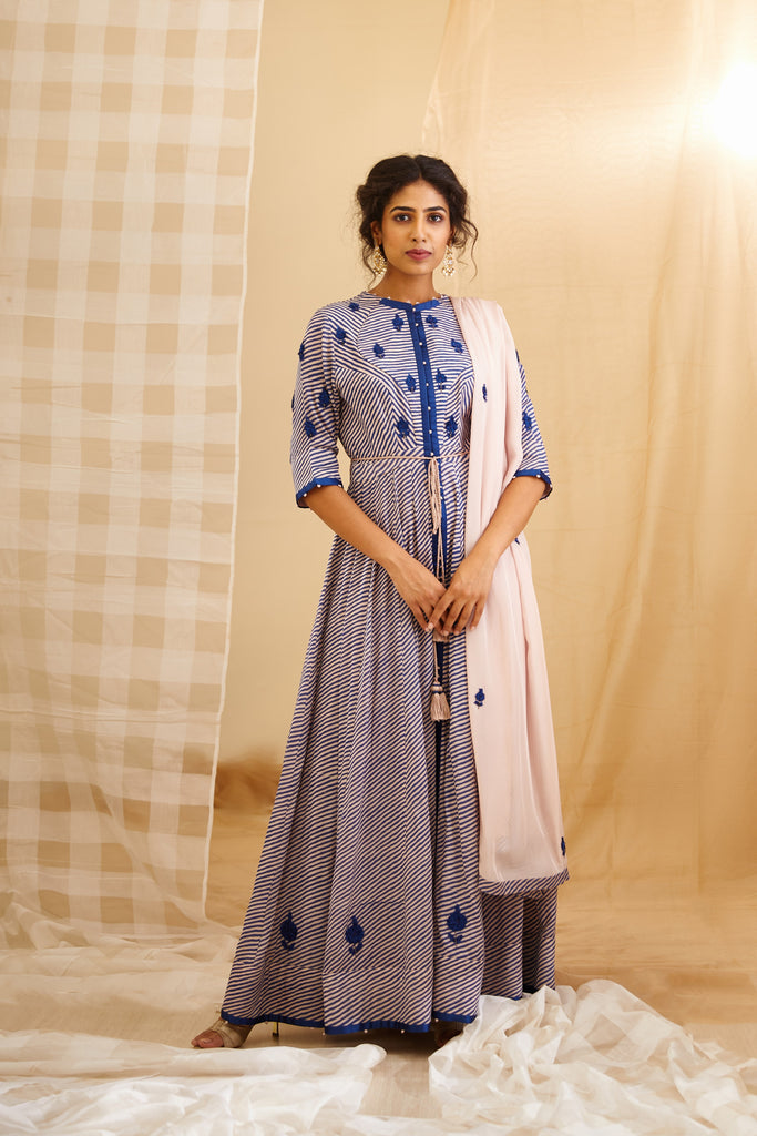 Natural Blue Kurta Set.