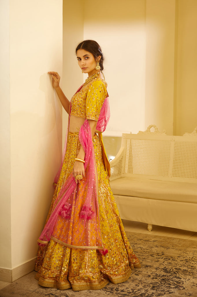 Yellow Lehenga Set.