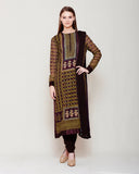 Dark Brown Kurta Set.