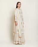 Off white kurta skirt set