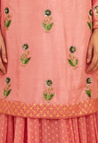 Coral Pink Kurta & Skirt Set.