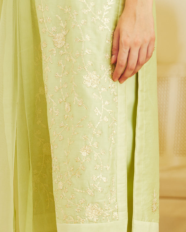 Light Green Kurta Set.