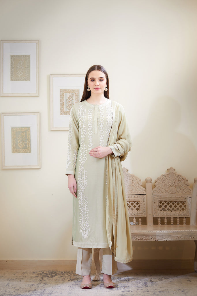 Mint Green Kurta Set.