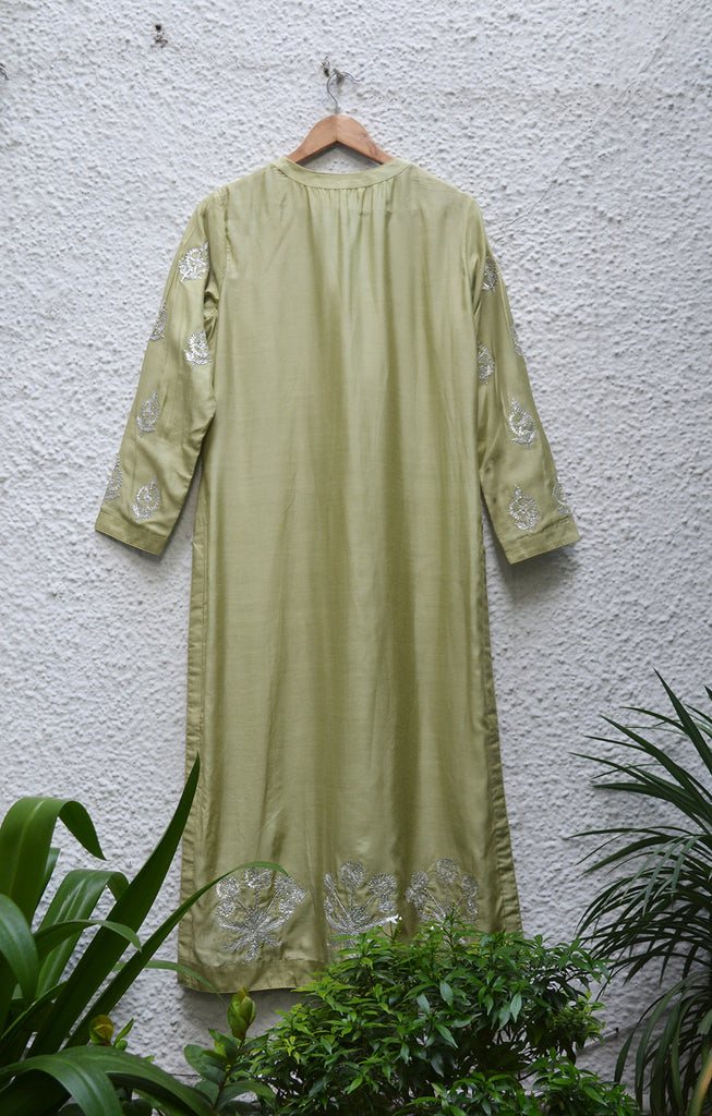 Olive Green Kurta Set.