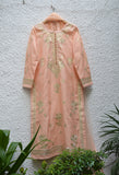 Peach Kurta Set.