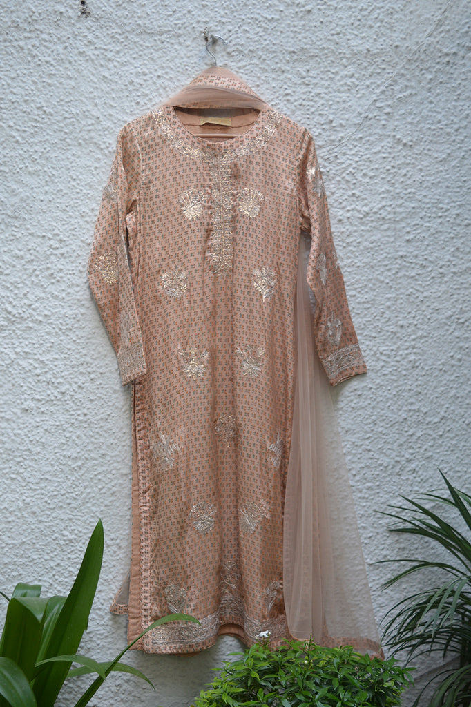 Old Rose Kurta Set.