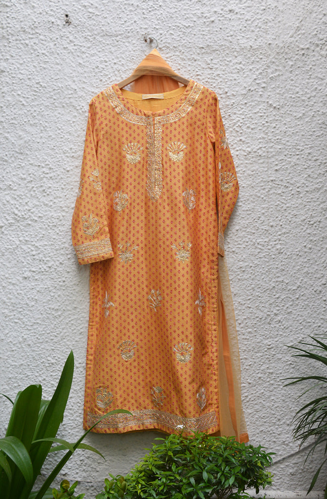 Orange Kurta Set.
