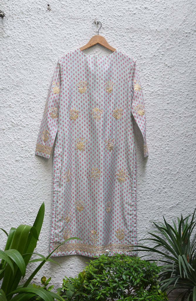 Light Sea Green Kurta Set.