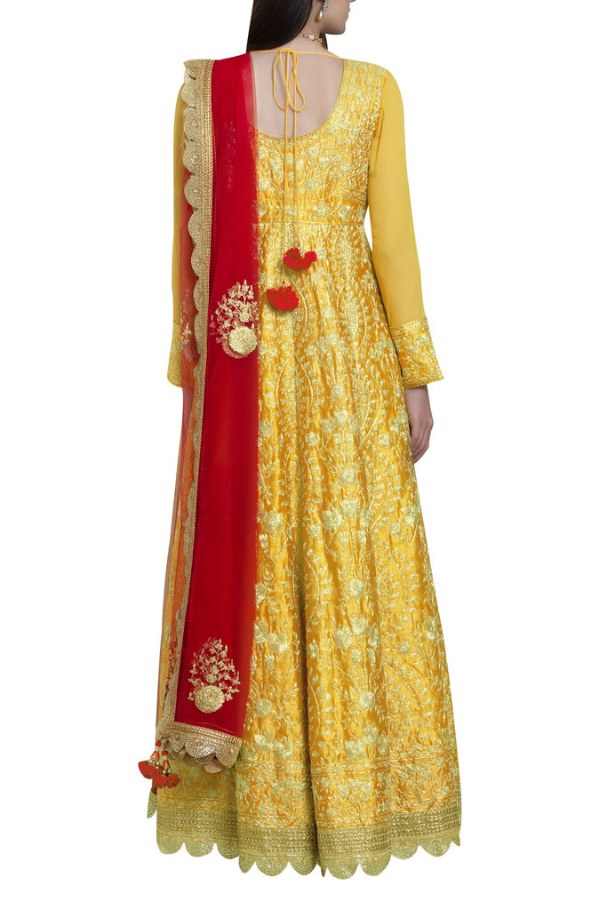 Dori embroidered anarkali set