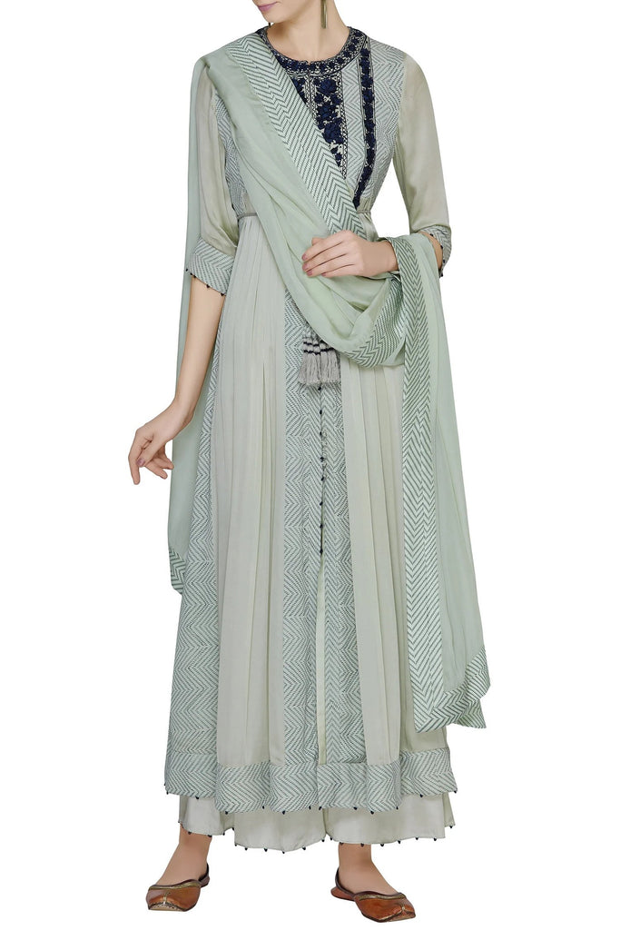 Printed Anarkali Kurta Set