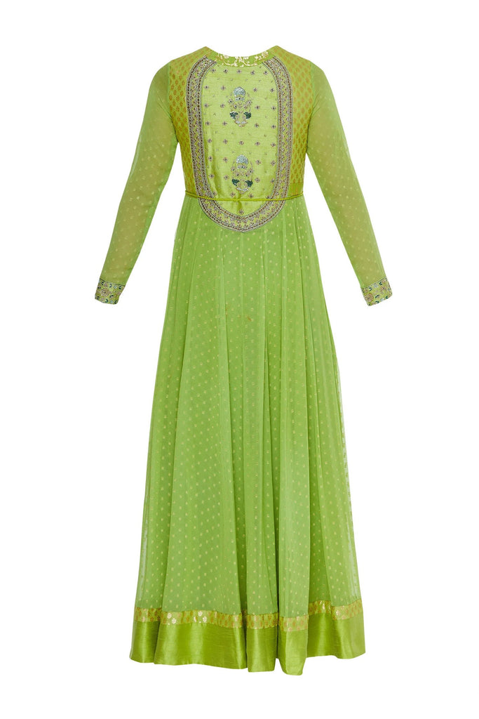 Zardozi work kurta with lehenga & dupatta