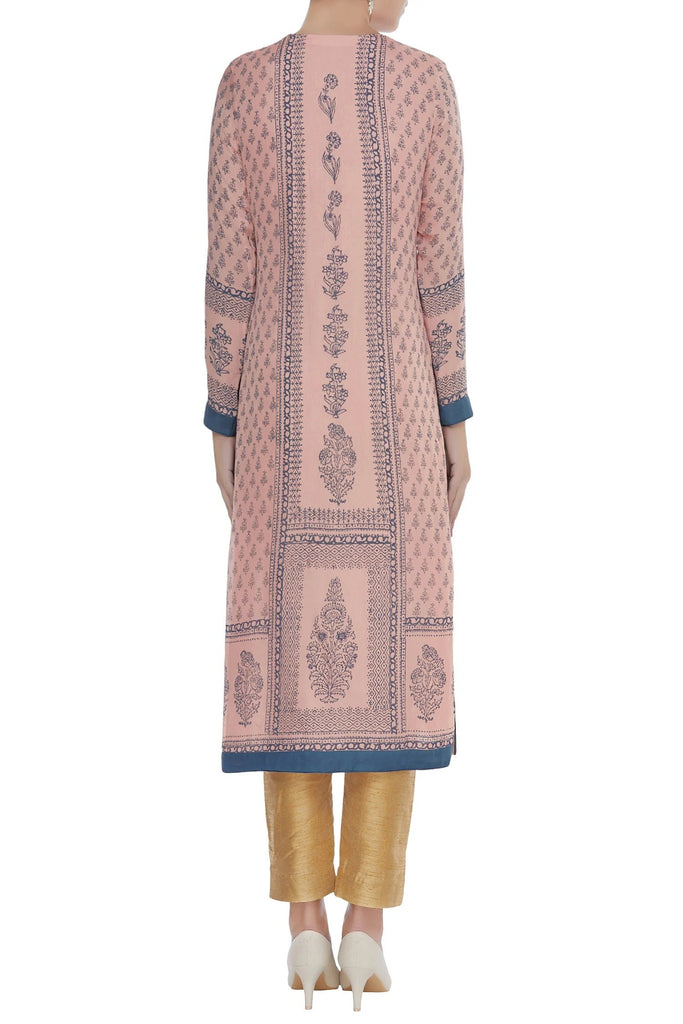 Pink & Blue Kurta Set.
