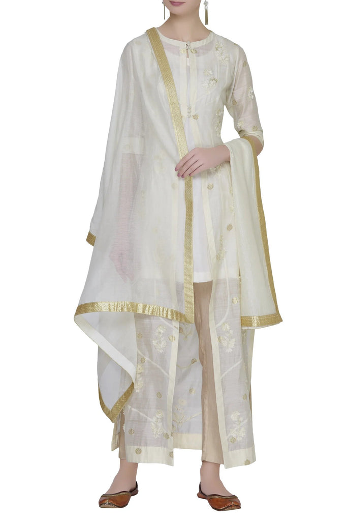 Embroidered Kurta & Dupatta Set