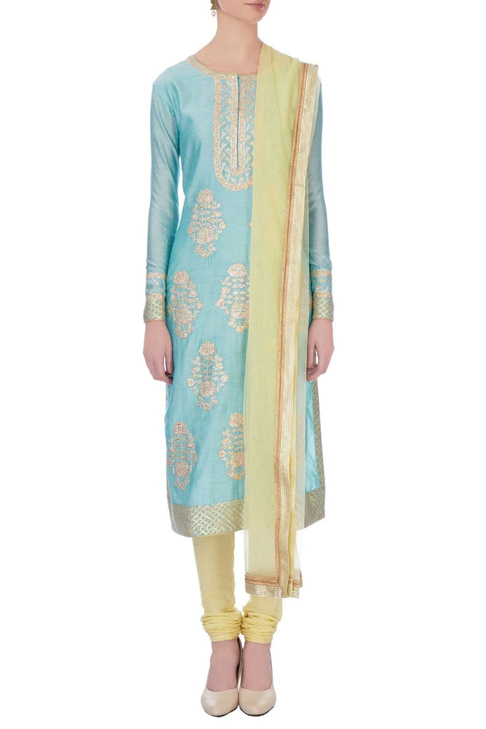 Blue & Ivory Kurta Set.