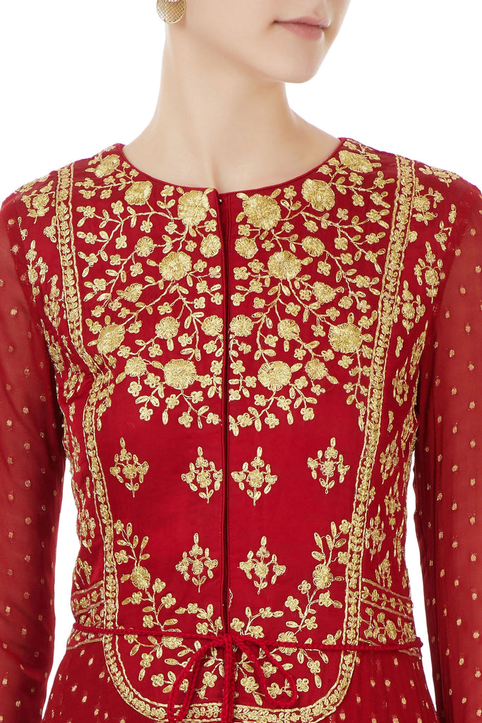 Maroon  anarkali set