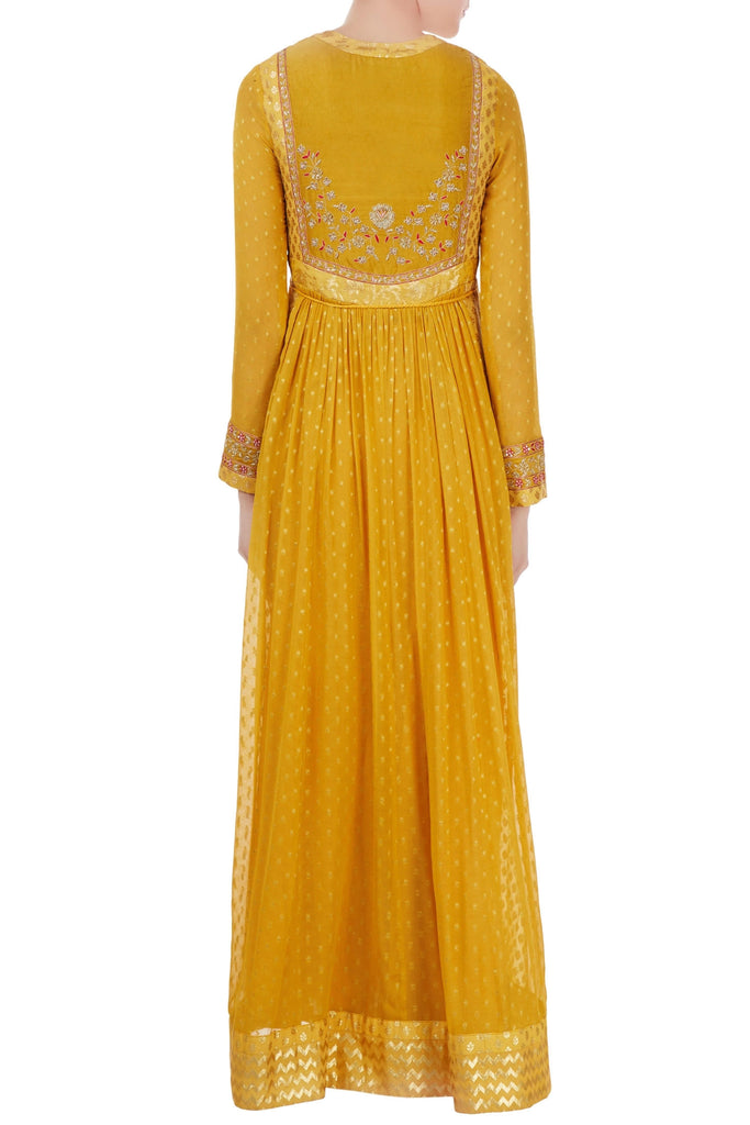 Yellow Anarkali set