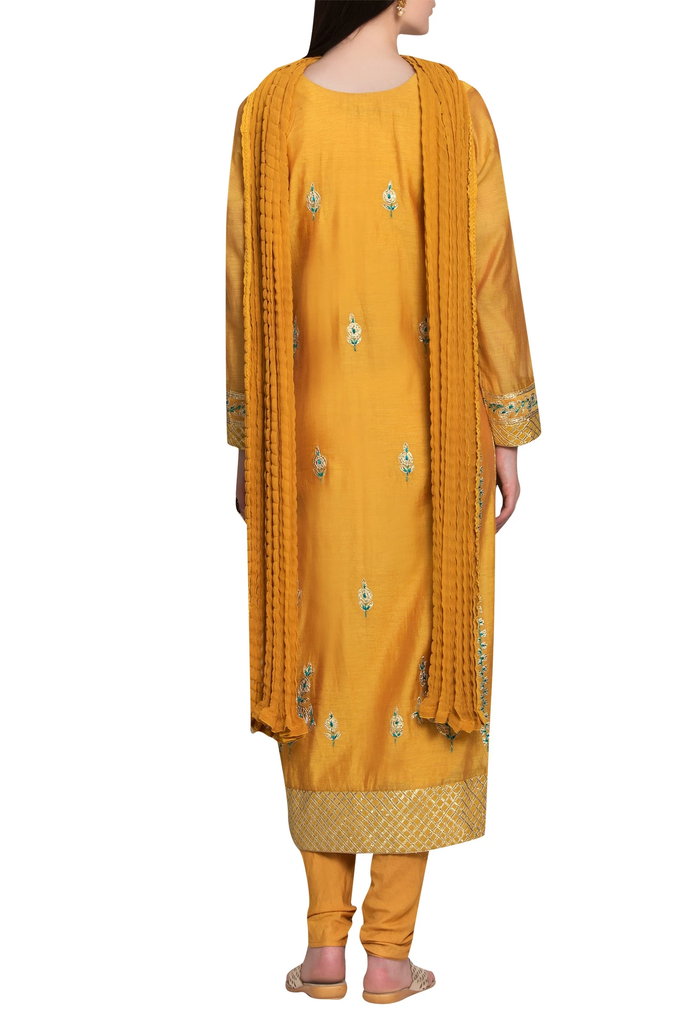 Mango Yellow Kurta Set.
