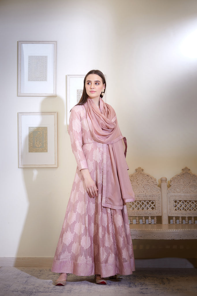 Light Purple Kurta Set.