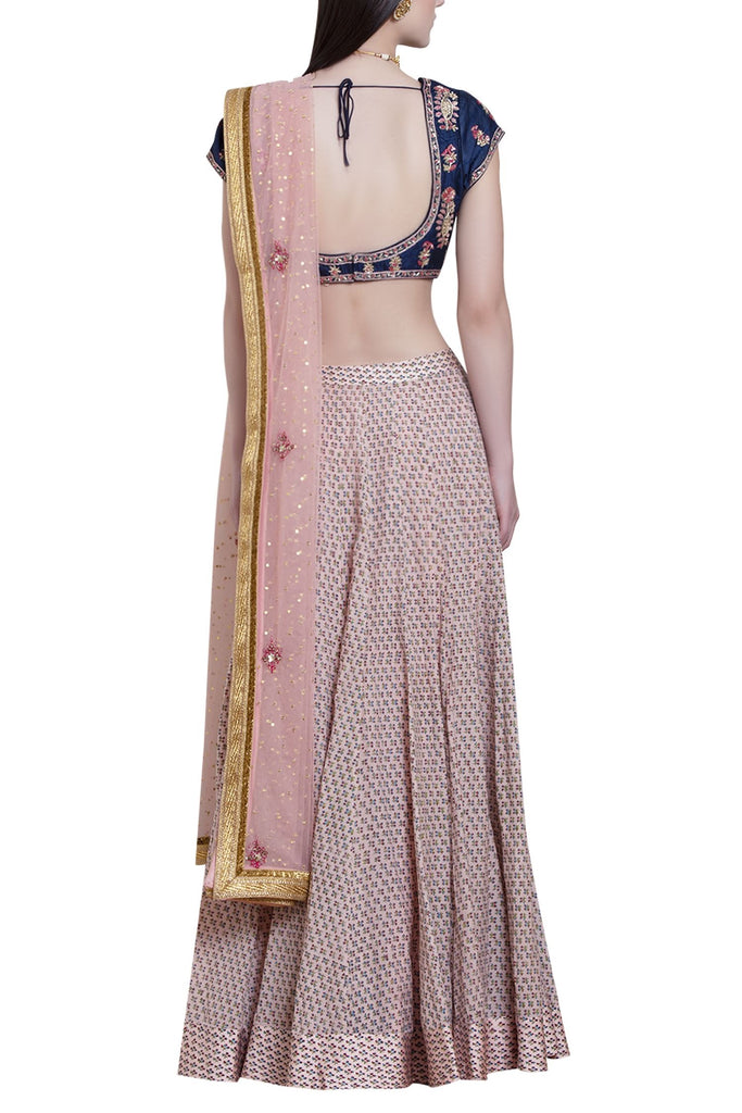 Zardozi embroidered lehenga set