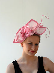 floral headpiece in pinks