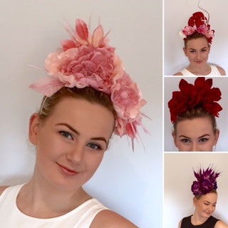 floral headpieces by sassy millinery