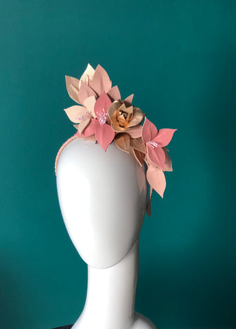 SIA - Leather floral  headpiece