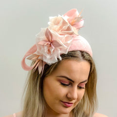 floral feature Structured band -soft pink