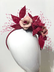MIA - Leather floral  headpiece