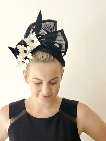 GEO  SILK TWIST headpiece