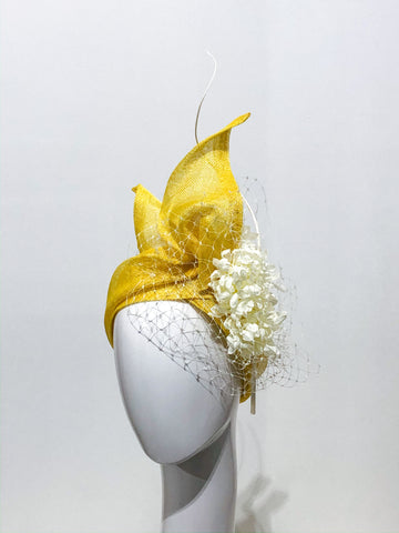 Yellow floral tails turban  band