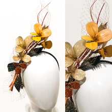 Load image into Gallery viewer, Leather floral  headpiece
