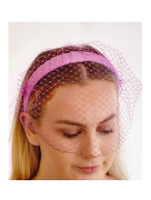 Load image into Gallery viewer, MARLA - veiled  leather headband
