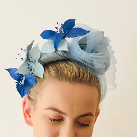 LARA -  leather floral headpiece