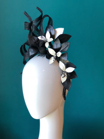 SIA - Derby Leather floral  headpiece