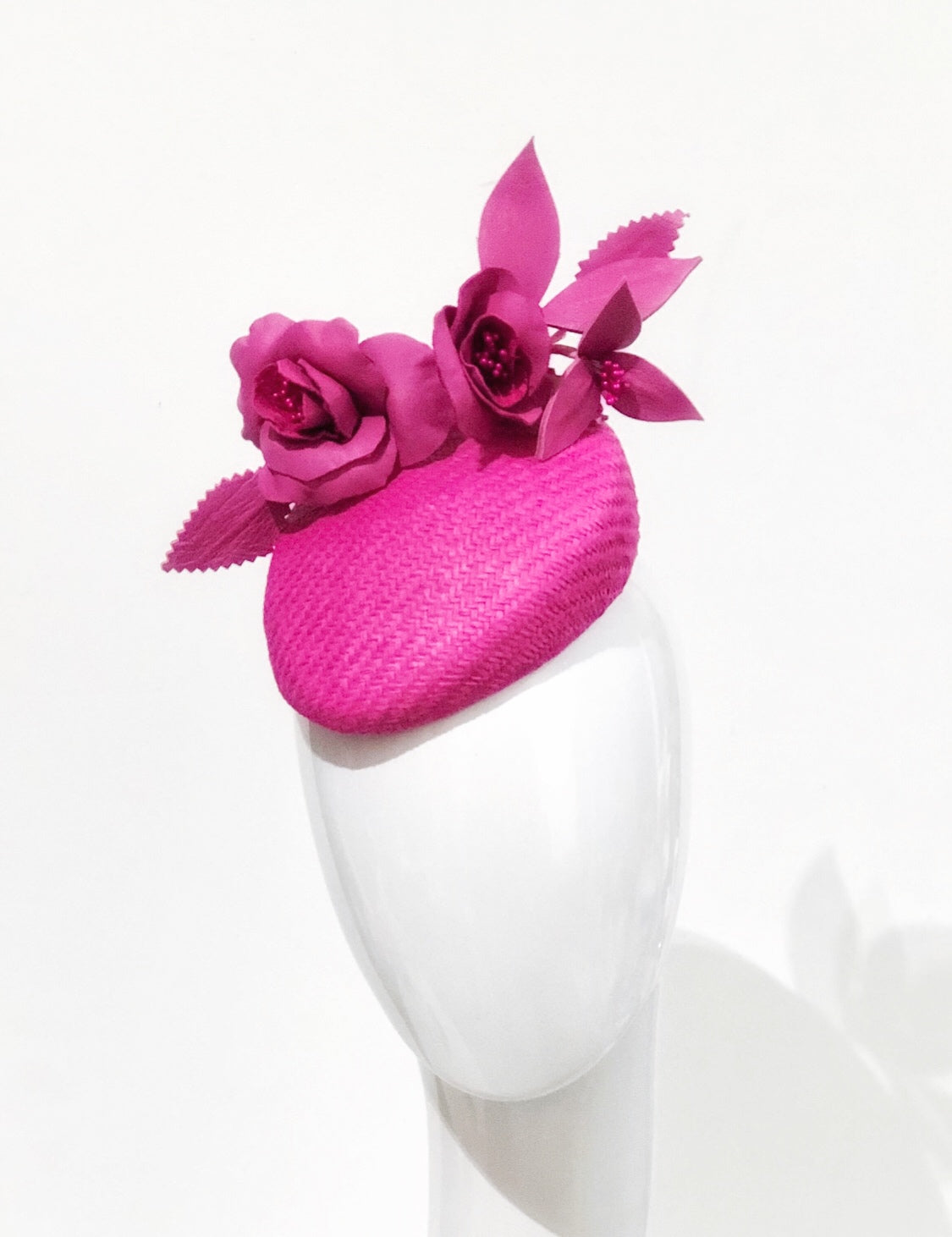 Rosa leather floral hat
