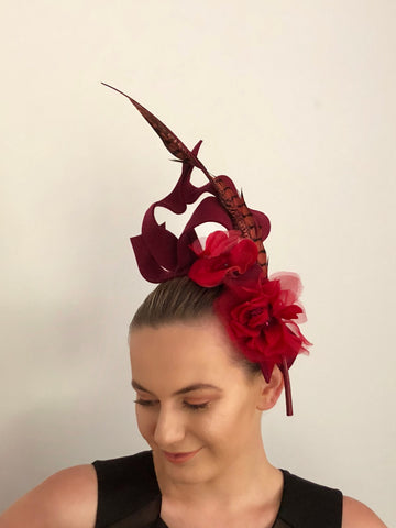 FLORAL RUFFLE headpiece