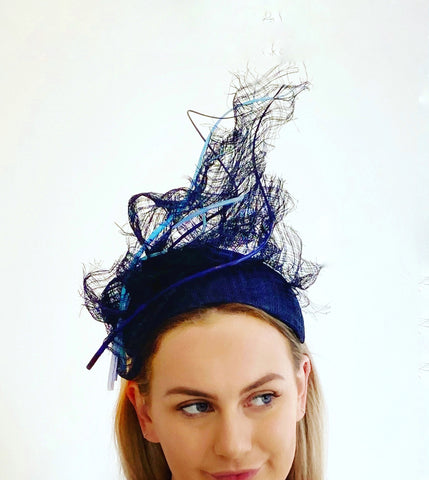 Blue day headpiece