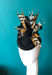 MARIKA- felt and feather hat