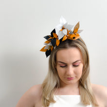 Load image into Gallery viewer, STELLA Leather floral  headpiece -colours by request