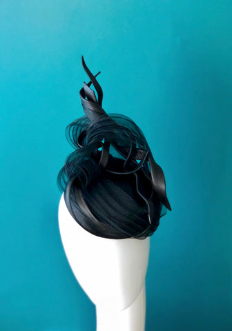 LOU- sculptural leather hat