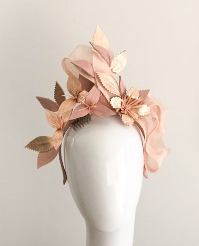 SKYE -  Leather floral  headpiece ,  colours  by request