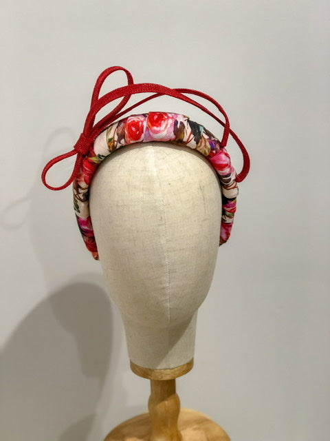 CHARLIE headband - red/ pink