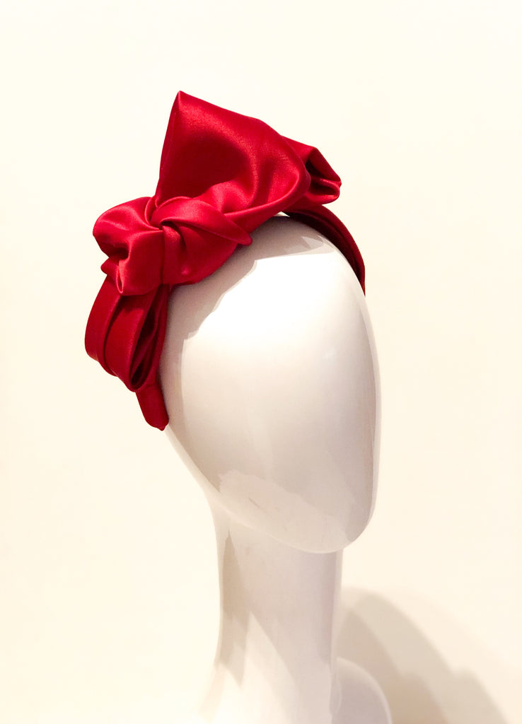 SATINE- Red bowed  band
